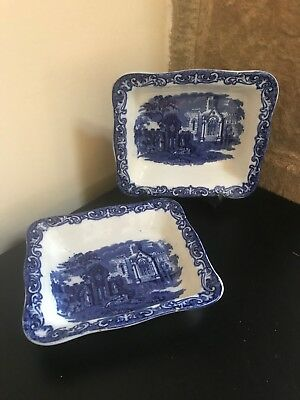 Pair of George Jones & Sons Shredded Wheat Dishes