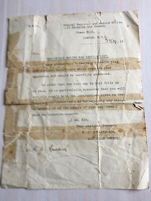 Estate Sale! 1939 Mercantile Marine War Service List