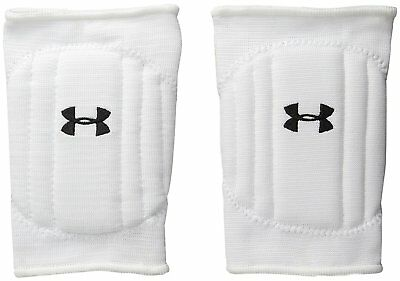 UNDER ARMOUR Volleyball Knee Pads sz S Small White Lightweight Form-Fitted
