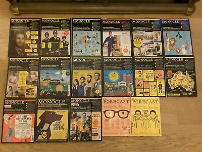 Monocle x 15 magazine and 2 X Monocle's The Forecast magazines in good used cond