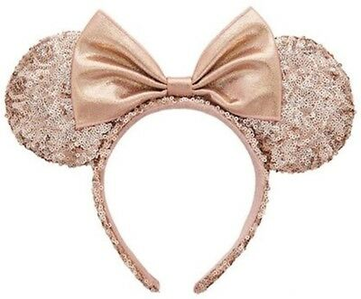 Rare Rose Gold Minnie Mouse ears. NWT