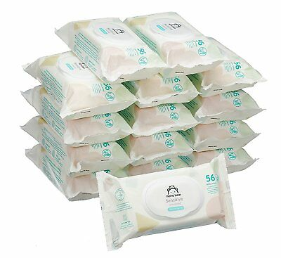 Mama Bear Sensitive Unscented baby wipes - Pack of 15 (Total 840 wipes)
