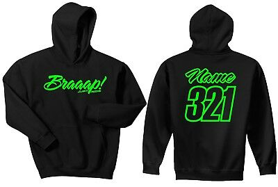Braaap! Just Ride Youth Custom Mx Hoodie Sweat Shirt Moto Motocross Race Braap