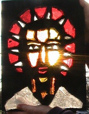 STAINED GLASS RARE VINTAGE RELIGiOUS ARTWORK FROM A CHURCH BY ENGINEERED (EPI)