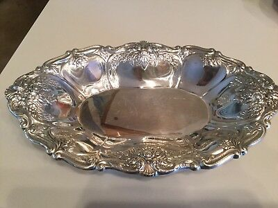 Vintage Wallace 9715 St Regis Silver Plate Serving Bowl Elegant Perfect Oval