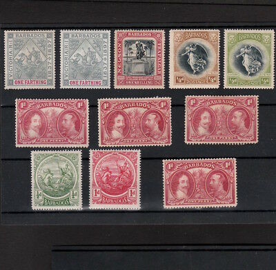 Barbados Selection Of Mint Stamps Including Nelson 1 Shilling & Some Mnh