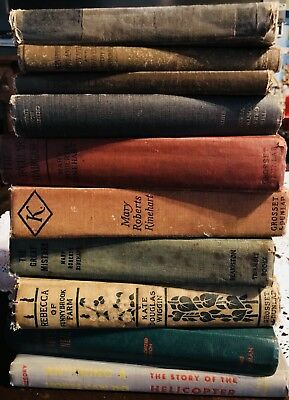 Lot of 10 OLD Vintage Books Collection Set UNSORTED MIXED all hardcover