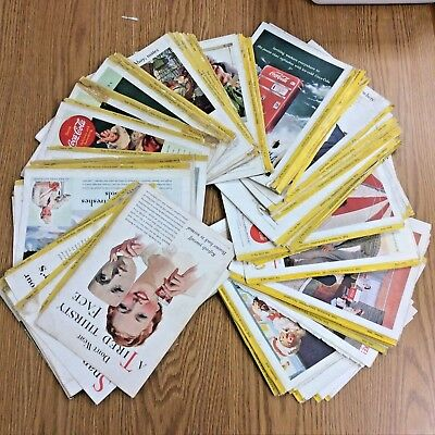Lot of 140+ Vtg National Geographic Coke Coca-Cola Print Ads 1930s-40s-50s-60s