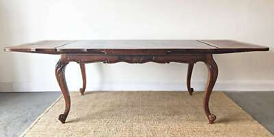 French Vintage Extension Dining Table Louis Style Oak Large - QN089a