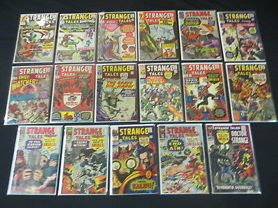 Strange Tales #127 128 130-134 136 139-143 147-149 151 17 Issue Silver Age Lot