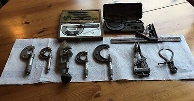 Collection  Of Vintage  Measuring Tools, Moore & Wright And Others