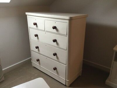 ANTIQUE PAINTED CHEST OF DRAWERS Cream -  MUST SELL MOVING SOON