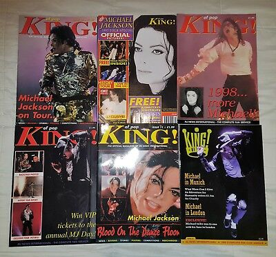 LOT PACK British vintage magazines KING MICHAEL JACKSON 1997-1998 tour concert