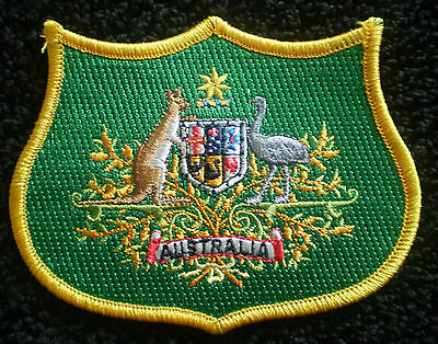 BULK AUSTRALIAN COAT OF ARMS IRON ON PATCH BADGES 10x8cm EXQUISITE EMBROIDERY