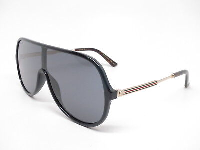 0a5c83204cb New Authentic Gucci GG0199S 001 Black Gold with Grey GG 0199S Sunglasses