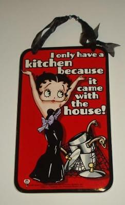 Cute Betty Boop Ceramic Kitchen Plaque 2007 King Features