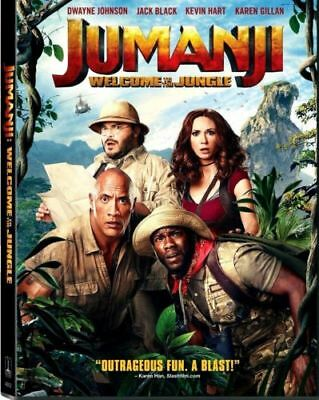 NEW: Jumanji: Welcome to the Jungle (DVD, 2018)-PRE-ORDER SHIPS ON 03-20-18