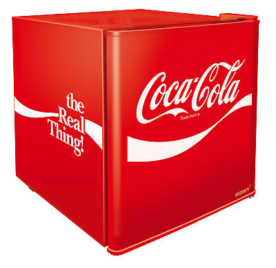 46L Officially Licensed Coca-Cola Branded Solid Door Compact Bar Fridge by Husky