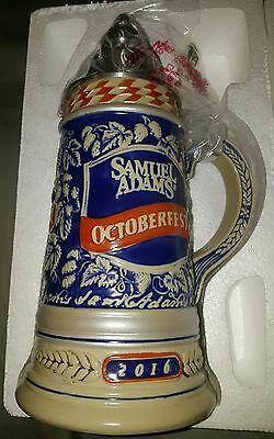 Samuel adams 2016 lided beer stein new in box rare great for father's day