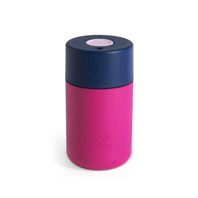 Frank Green Original SmartCup - 8oz / 230ml Hot Pink/Navy Reusable Coffee Cup Ca