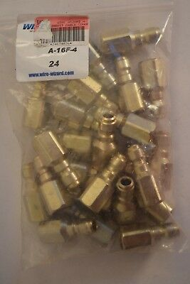 24x WIRE WIZARD A-16F-4 A16F4 CONDUIT CABLE CONNECTION NOZZLE MALE FEED END.