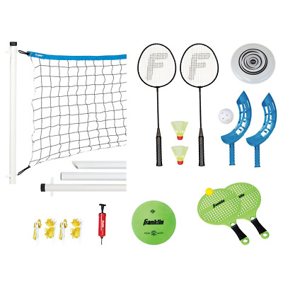 Franklin Sports Combo Set: Badminton, Volleyball, Flip Toss, Horseshoes, Flying