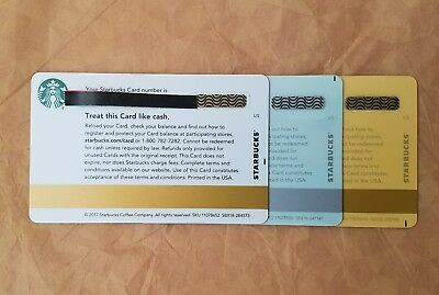 3 Rare Starbucks Printers Mark Gift cards All Brand new Unswiped pin intact