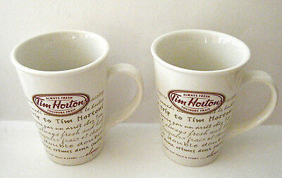 Tim Horton's 2009 Coffee Mugs #009 Every Cup Tells A Stor 2-Pce Limited Edition