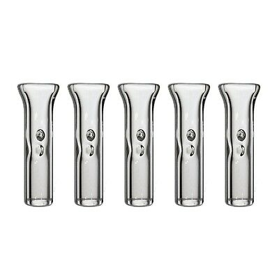 5 Pack Glass Filter Tips 4 Smoking (High Quality Glass Crutch) - Pinched Lip