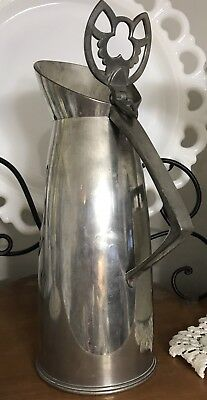 Vintage Mid century KMD Royal Holland Pewter Water Pitcher Daalderop Netherlands