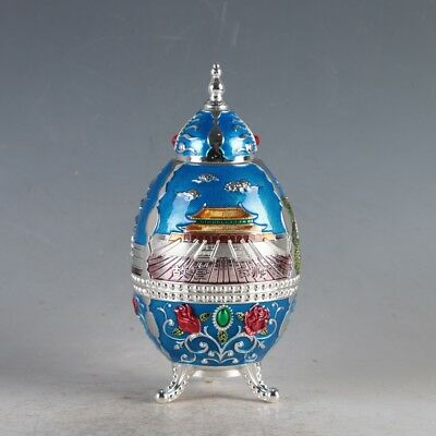 Chinese Cloisonne Handmade Imperial Palace Toothpick Box JTL3011