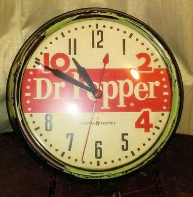 Rare Vintage 1950s Dr. PepperClock AWESOME FIND!