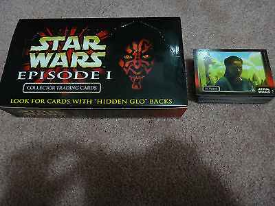 Star Wars Episode 1 Collector Trading Cards Full Set, Checklist card, Box