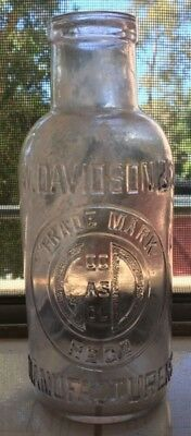 PALE AMETHYST PICKLE JAR 'GOOD AS GOLD' TRADE MARK MELBOURNE 1900's FREE POST!