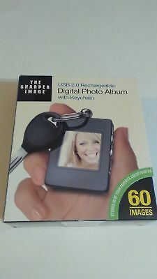 Digital Photo Album with Keychain USB 2.0 RechargeableThe Sharper Image
