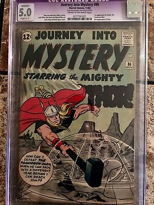 Journey into Mystery #86 (Nov 1962, Marvel) cgc 5.0 slight restore