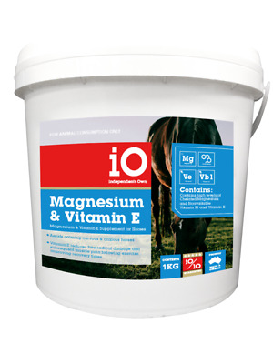 IO Magnesium and Vitamin E supplement for horses [Please choose size: 1 kg]