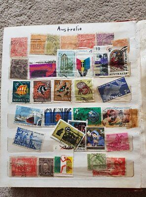 World Stamps in album
