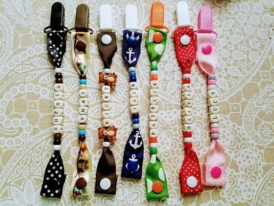 Personalized Baby Binky Pacifier Clips, Birthday, Gift