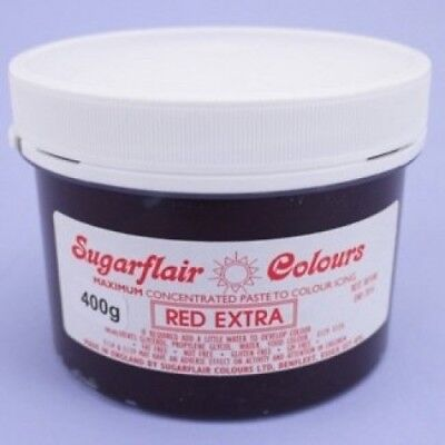Red extra 400g pot Sugarflair Spectral Concentrated Paste Food Colouring ::