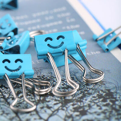 40Pcs 19mm Smile Metal Binder Clips For Home Office File Paper Organizer EC