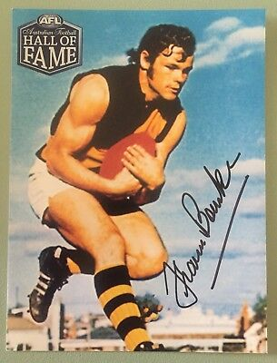 Richmond Tigers - Signed Francis Bourke Hall of Fame Print.