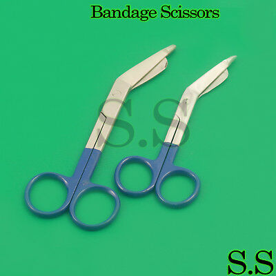 """2 Lister Bandage Scissors 5.5""""+4.5"""" Surgical Medical Instruments Stainless Steel"""