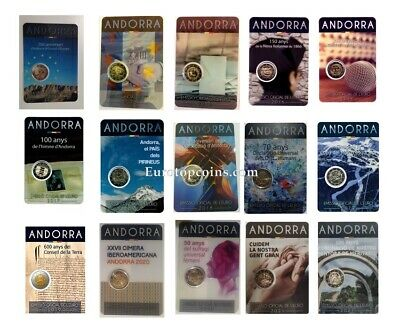 #Rm# Blister 2 Euro Commemorative Andorra (2014-2019) All Pieces - Please Choose