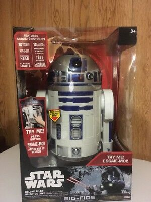 """Star Wars Big Figs Classic 18"""" Deluxe Electronic R2-D2 Figure (31"""" Scale) NEW"""