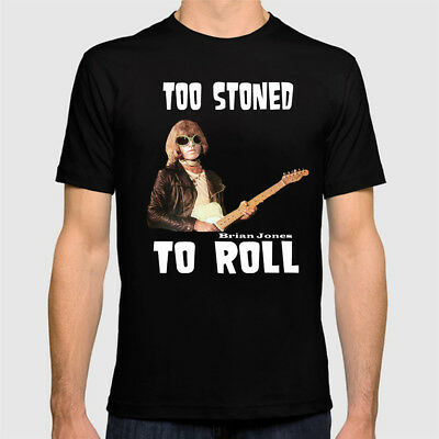 Rolling Stones Brian Jones Too Stoned To Roll T shirt