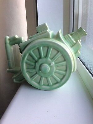Art Deco 1930s George Clews & Co Pottery BELISHA Artillery Cannon Teapot