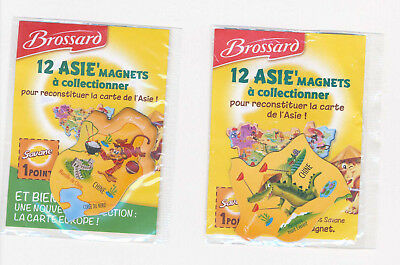 Lot de 2 Magnets Brossard Asie
