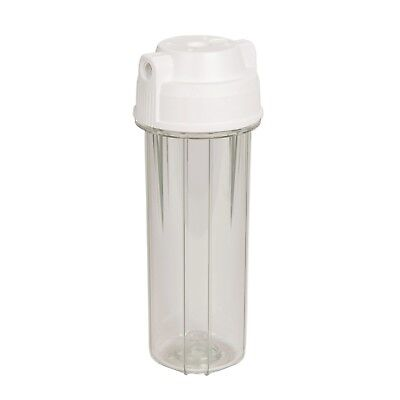 """10"""" two-part water filter housing 1/4""""NPT inlet/outlet thread RO EG14CWAQ-4"""