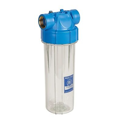 """10"""" in-line Water Filter Housing with pressure valve 1/2""""Brass FHPR12-B-AQ"""